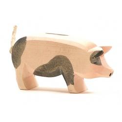 Ostheimer Schwein Kopf hoch gefleckt