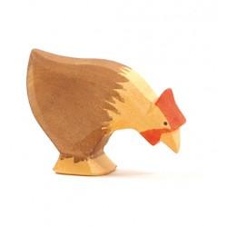 Huhn braun pickend