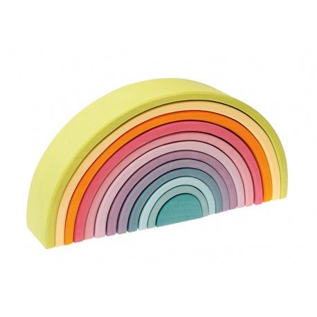 Holz-Regenbogen pastell groß
