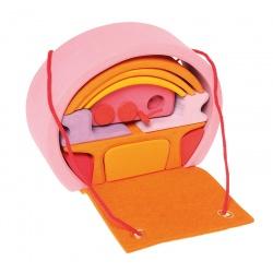 Bauhaus rosa-orange