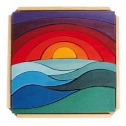 Landschaftspuzzle aus Holz
