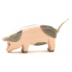 Ostheimer Schwein Kopf tief gefleckt