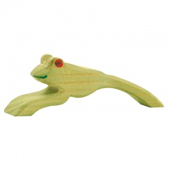 Ostheimer Frosch springend