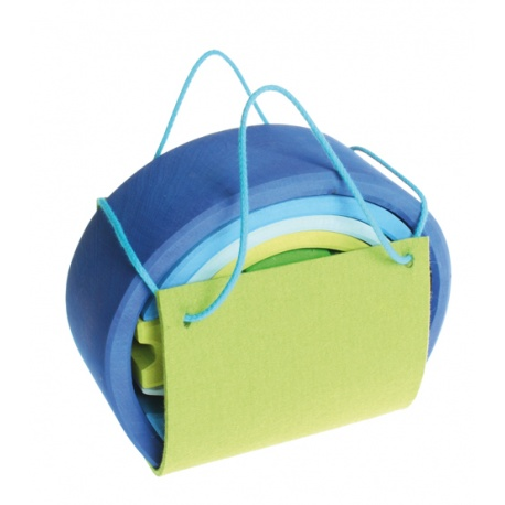 Bauhaus blau-grün
