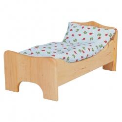 Puppenbett Erle mit Bettwäsche