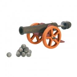 Ostheimer Kanone groß, 10 Kugeln