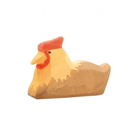 Ostheimer Huhn braun liegend