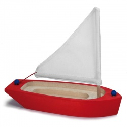 Segelschiff rot